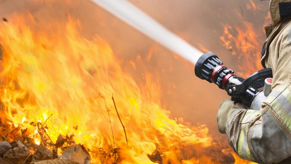 Огромни пламъци обхванаха зеленчуковата борса в Кърналово (ВИДЕО)