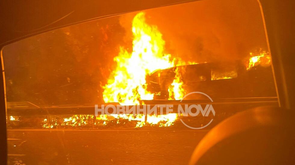 Автомобил се запали на АМ
