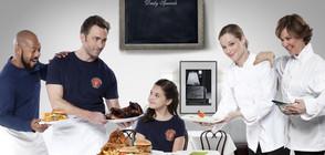 Тери Поло в кулинарна надпревара с Джеймс Патрик Стюарт по NOVA
