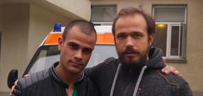 "Двойник на д-р Василев на снимачната площадка на ""Откраднат живот"""