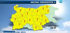 КОД: ОПАСНО ГОРЕЩО: Предупреждения за горещини и в следващите дни