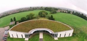Разходка по тревата на покрива