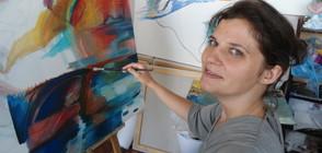Българска художничка рисува Язон и аргонавтите