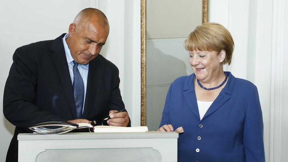 ДИПЛОМАТИЧЕСКИ СОВАЛКИ: Премиерът Борисов се срещна с Ангела Меркел (ВИДЕО+СНИМКИ)