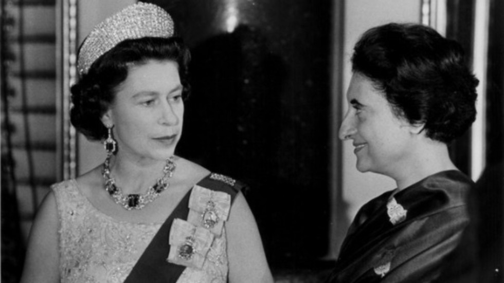 Кралица Елизабет II и Индира Ганди.Снимка: Getty Images