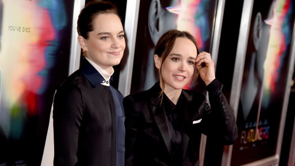 Елън Пейдж (вдясно) и приятелката й. Снимка: Getty Images