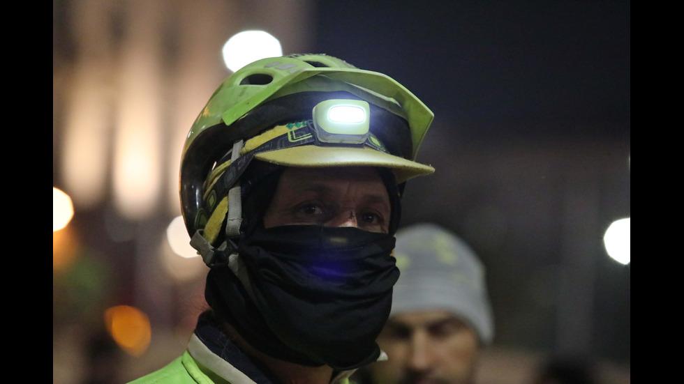 Протест на колоездачи в София