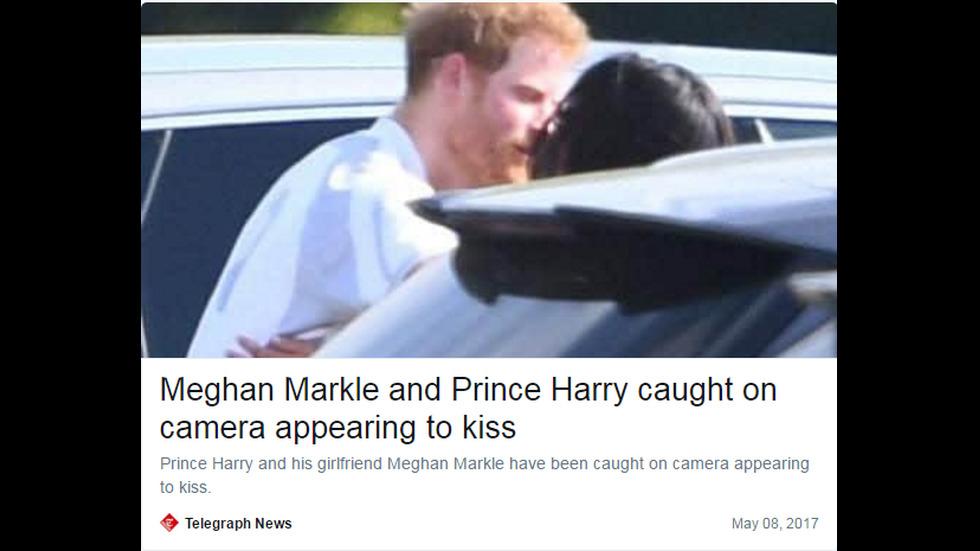 Принц Хари и Меган Маркъл на поло мач