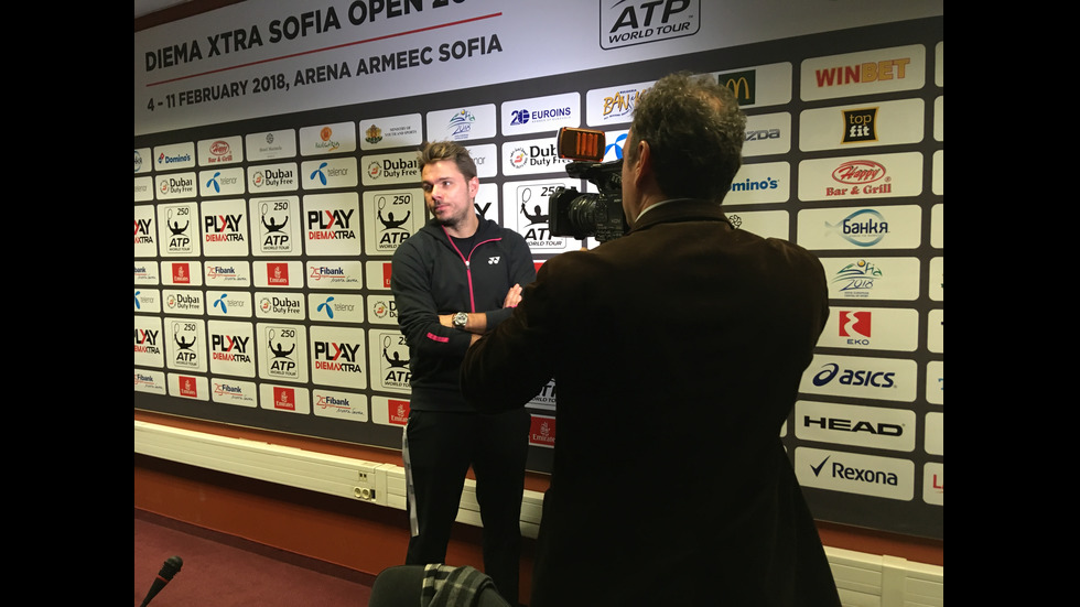 Стан Вавринка пристигна в София