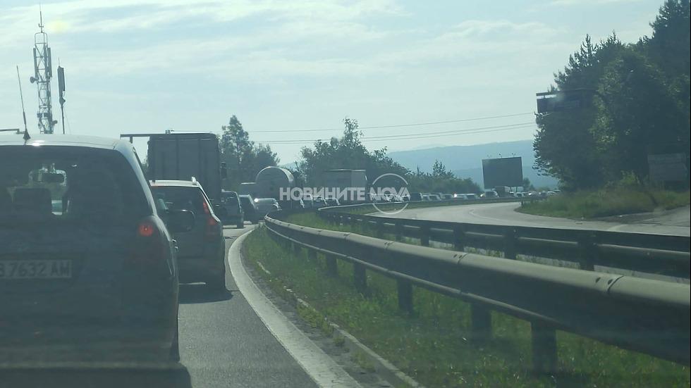 "Задръстване на магистрала ""Тракия"""