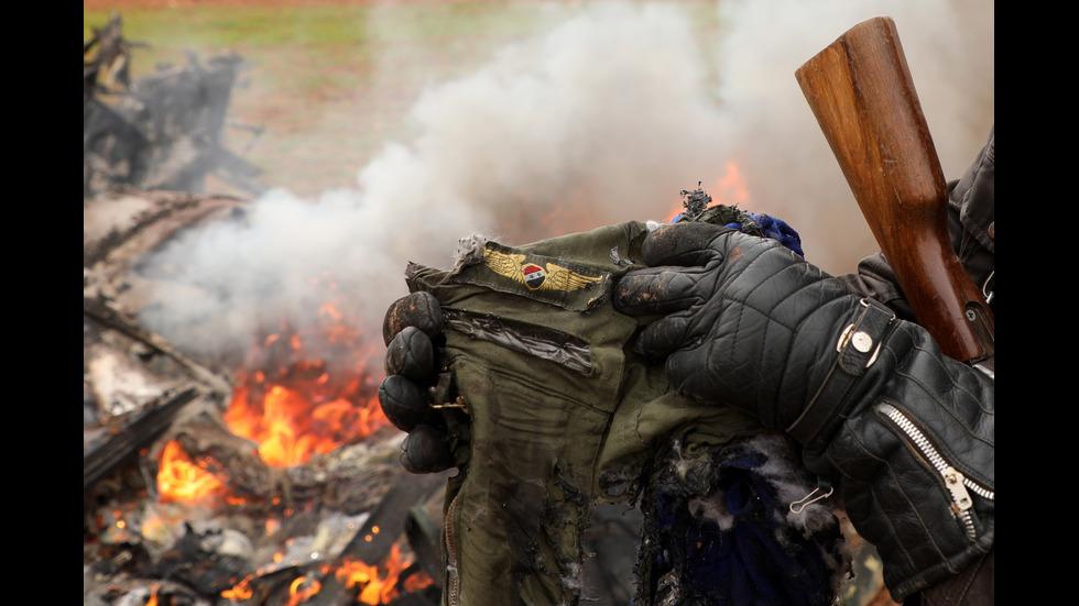 Бунтовници свалиха боен хеликоптер в Сирия