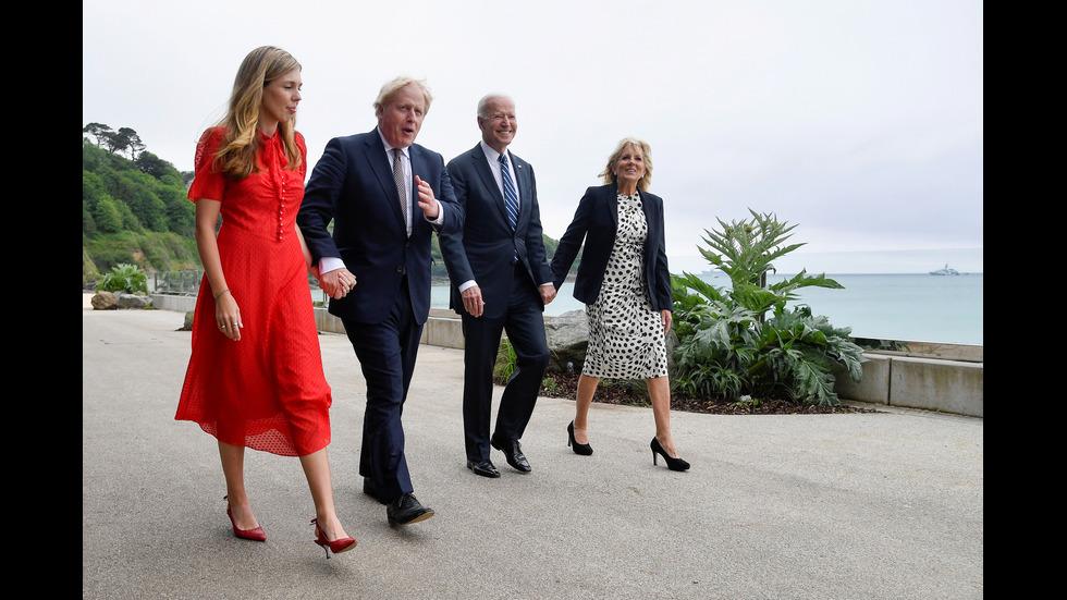 ДРЕСКОД С ПОСЛАНИЕ: Джил Байдън с призив при първото си посещение в Европа