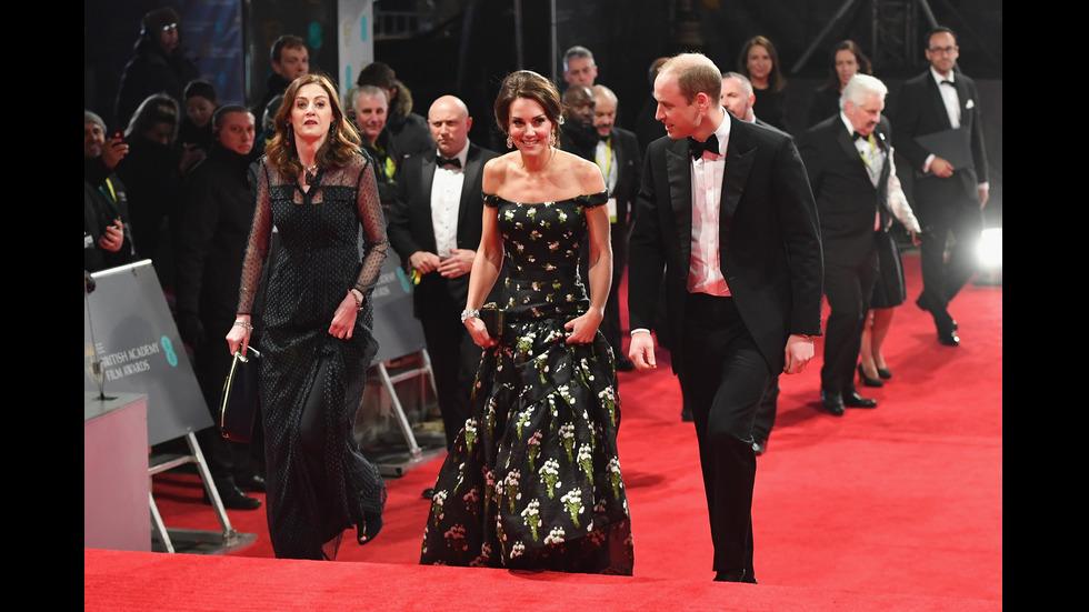 Уилям и Кейт блестят на наградите БАФТА
