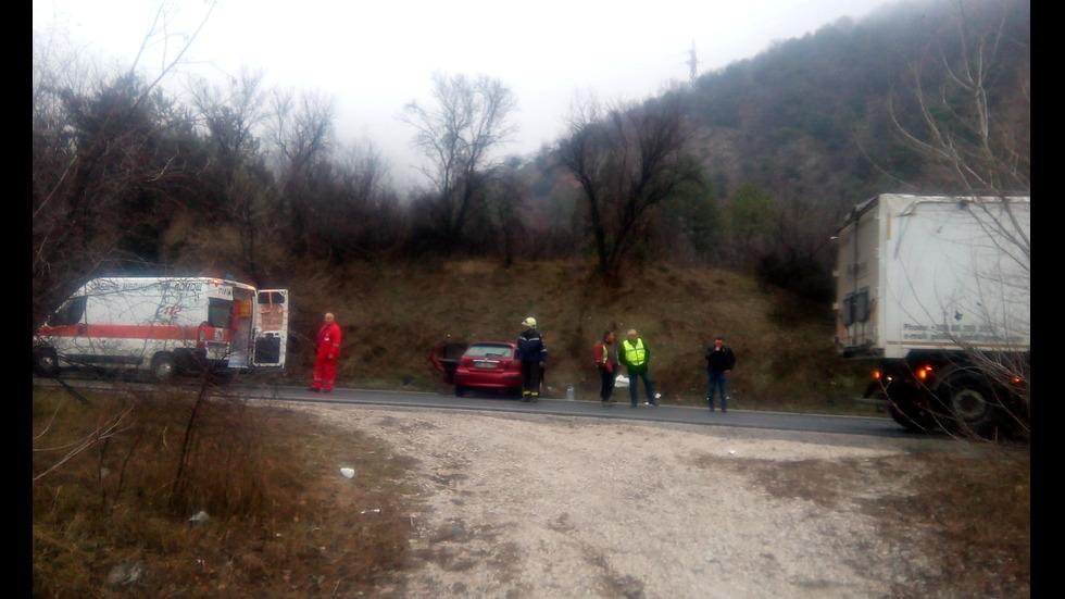 Мъж загина при катастрофа край Кресна