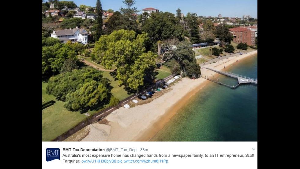 Милиардер купи за рекордна сума исторически имот в Австралия