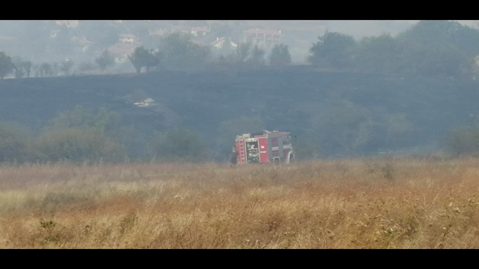 Пожар избухна край търновското село Беляковец