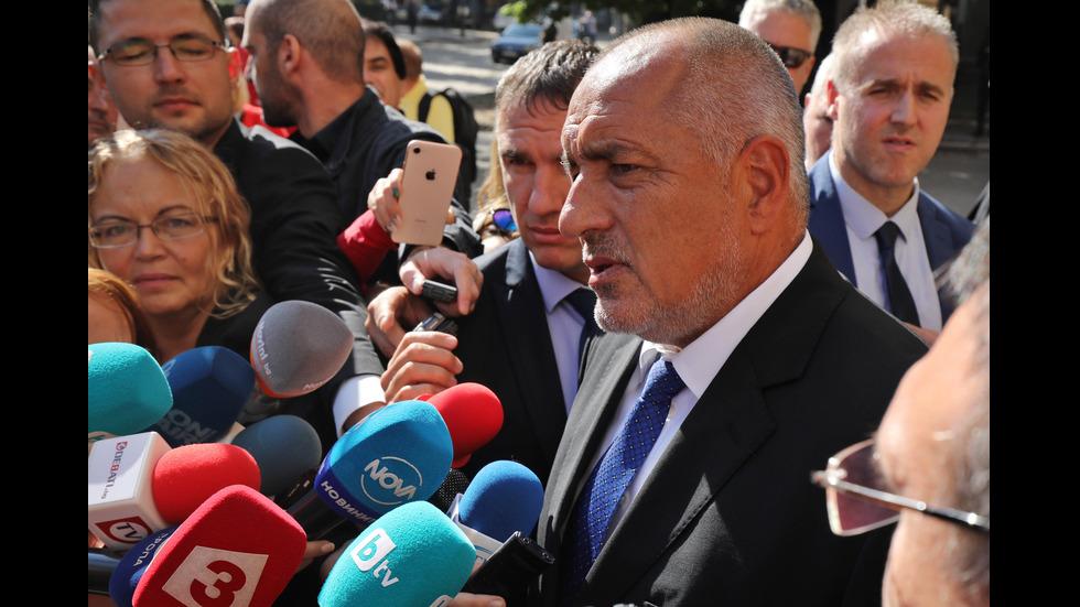 Борисов след срещата с президента Румен Радев