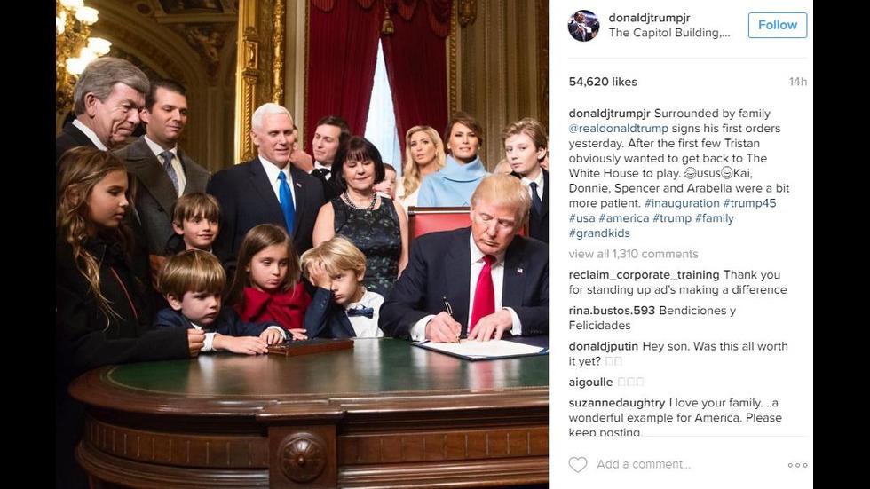 Децата на Тръмп се наслаждават на Белия дом