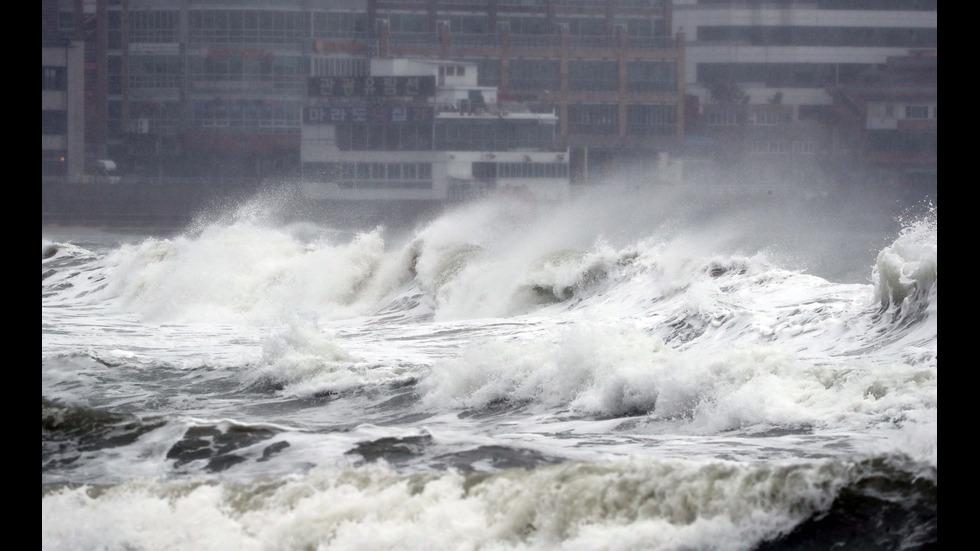 Мощен тайфун причини щети и леки травми в Южна Корея