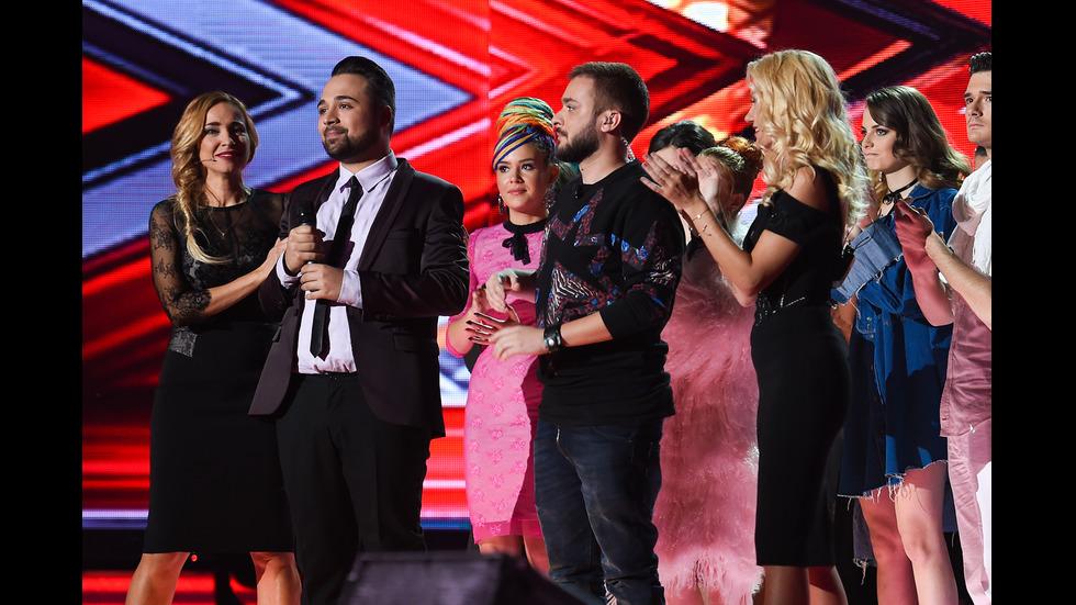 Нощ на любовните песни на четвъртия лайв концерт в X Factor