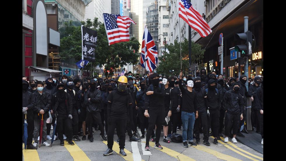 Хиляди на протест в Хонконг, има арестувани