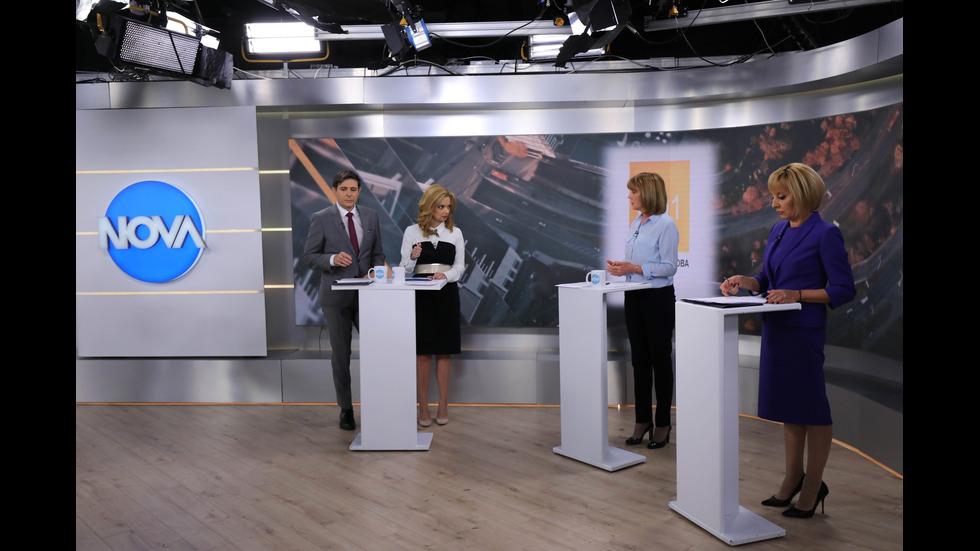 Предизборен дебат между Йорданка Фандъкова и Мая Манолова