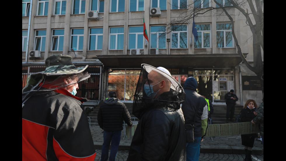 Протест пред земеделското министерство