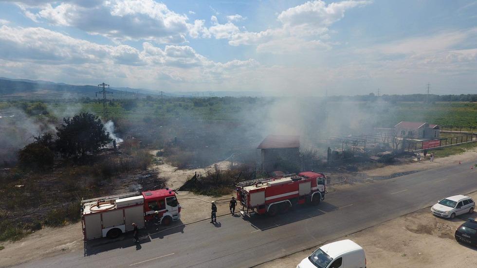 Голям пожар край Пловдив