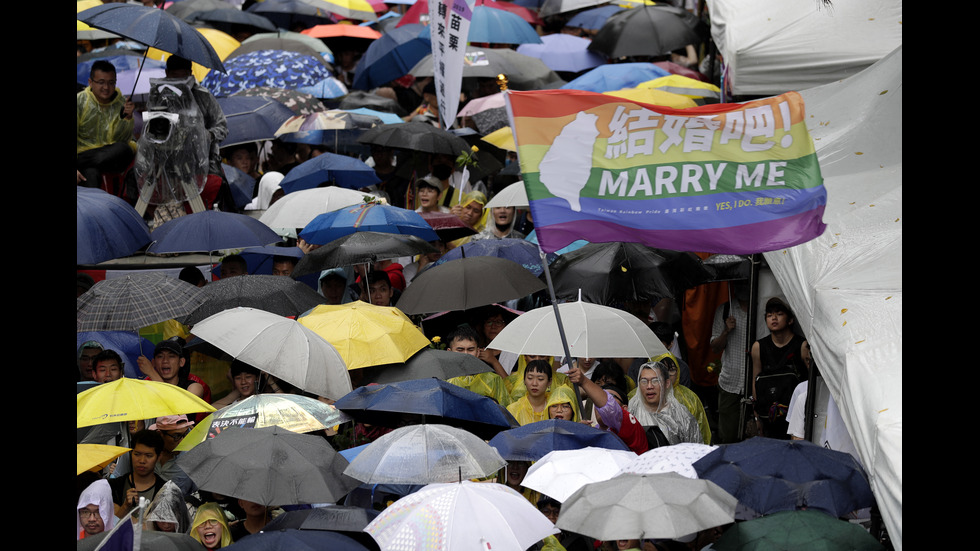 Тайван узакони еднополовите бракове
