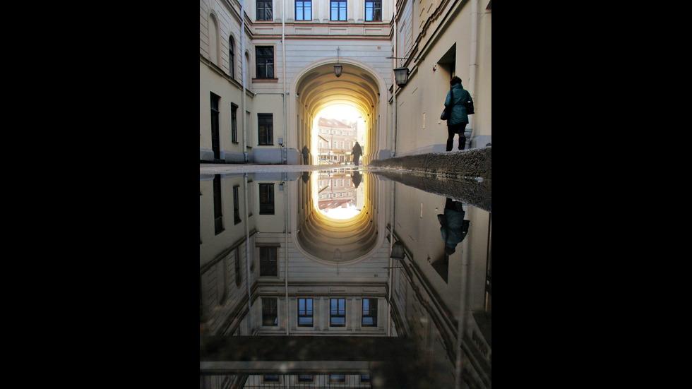 Красотата на Вилнюс в дъжда