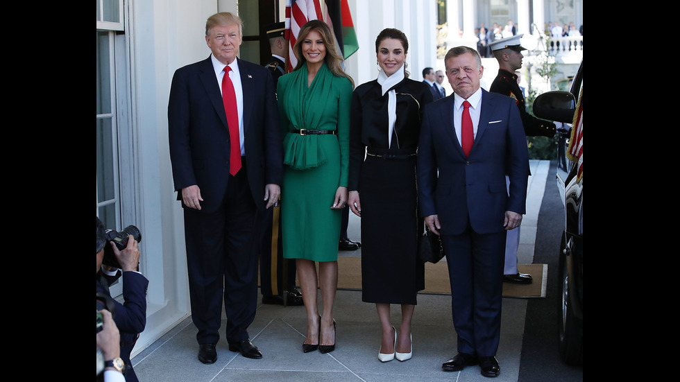 Мелания Тръмп и кралица Рания в Белия дом