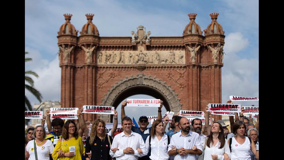 Протести в Барселона за независимостта на Каталуния