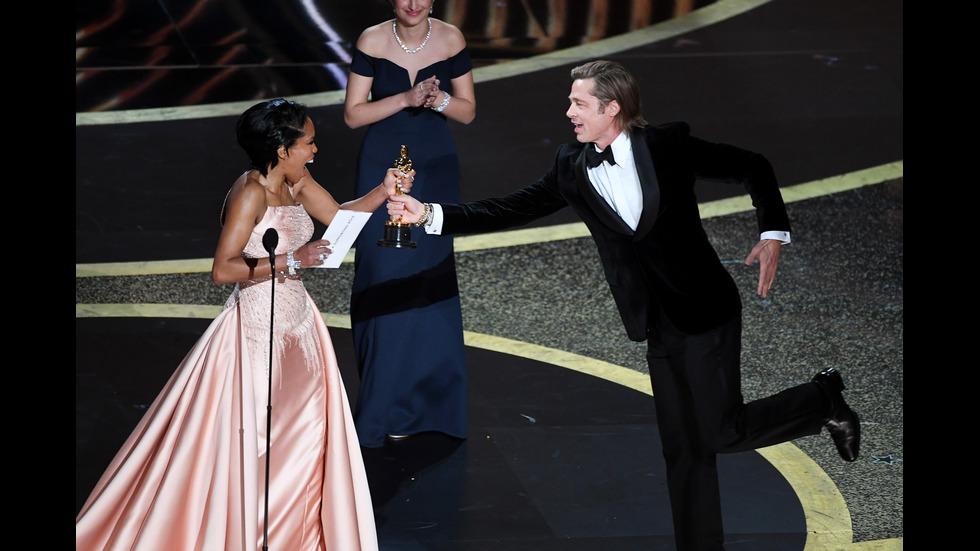 """Брад Пит с първи актьорски """"Оскар"""""""