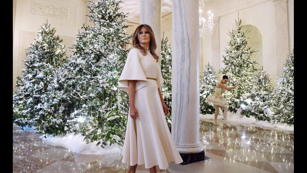 Мелания Тръмп украси Белия дом за Коледа