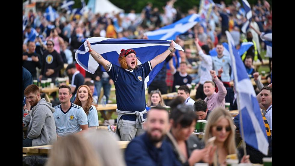 """UEFA EURO 2020: Агитката на Шотландия пристигна на митичния """"Уембли"""""""