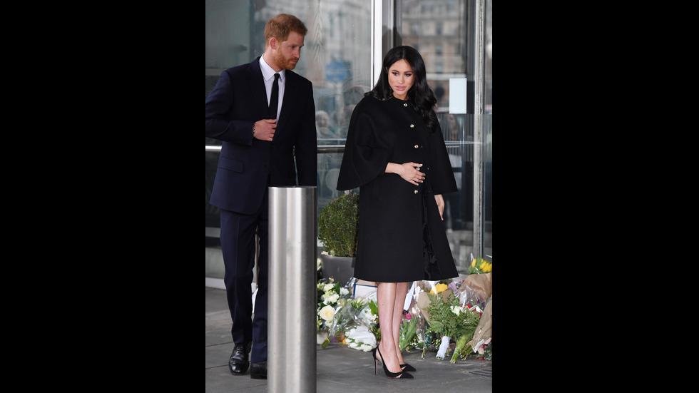 Принц Хари и Меган отдадоха почит на жертвите на атаката в Крайстчърч