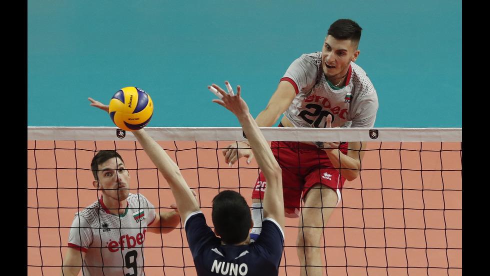 България е на 1/8 финал след победа над Португалия на Евроволей 2019
