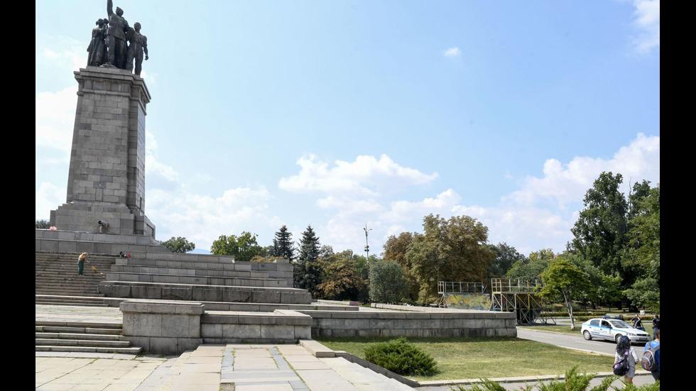 Нов вандалски акт на Паметника на съветската армия