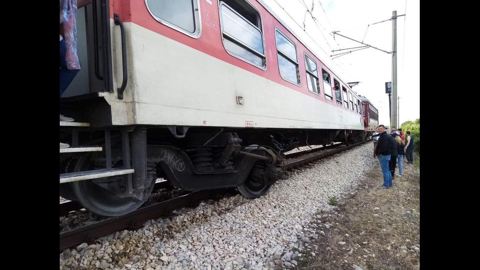Дерайлирал е бързият влак от Варна за София