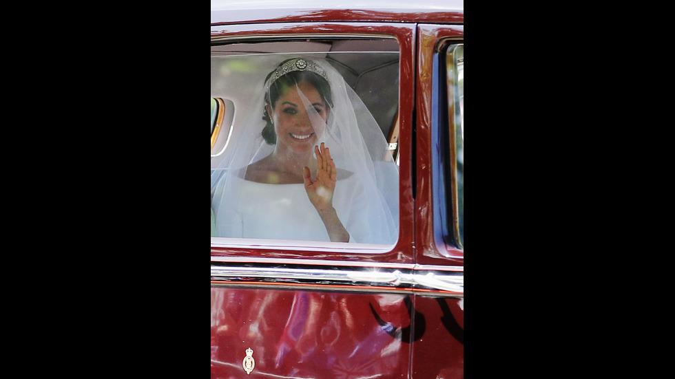 Меган Маркъл пристига в църквата за сватбата
