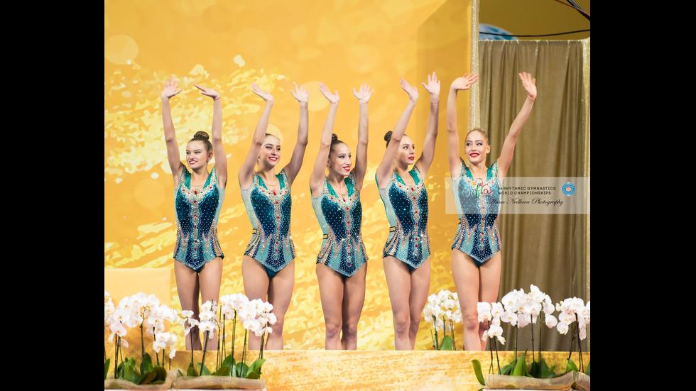 """""""Златните"""" момичета на финала на Световното първенство по художествена гимнастика"""