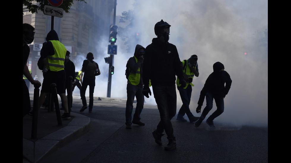 Сблъсъци при протест в Париж, 120 души са арестувани