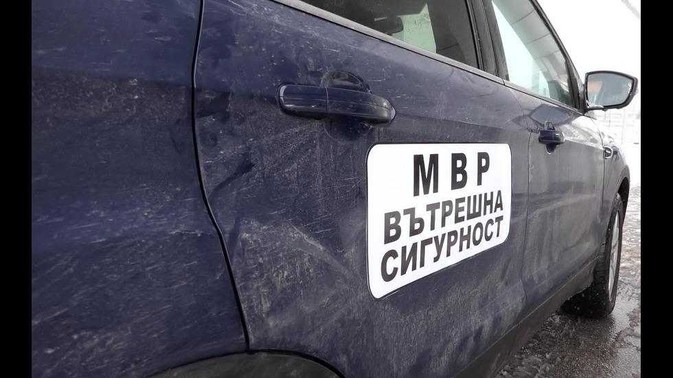 МВР разпространи кадри от ареста на двамата полицейски шефове