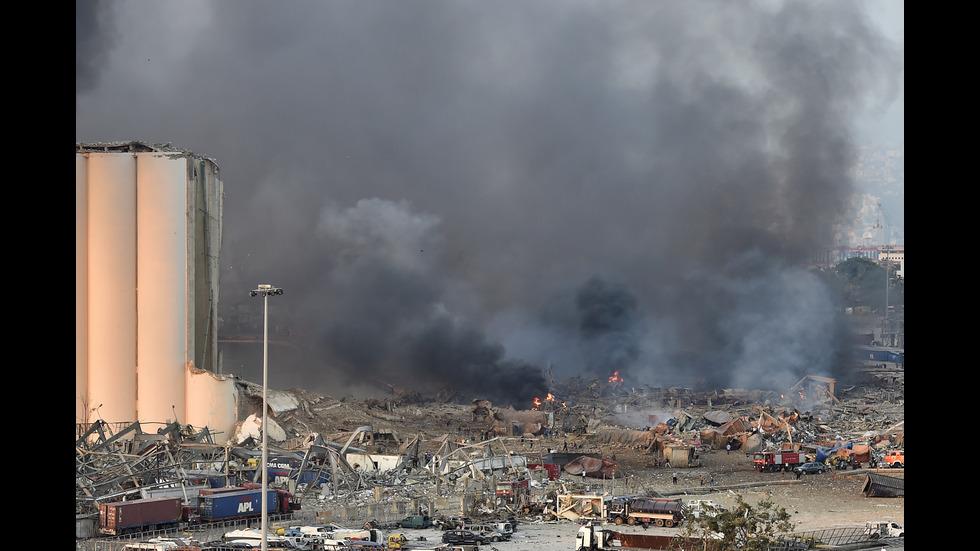 Mощен взрив на пристанище до българското консулство в Бейрут
