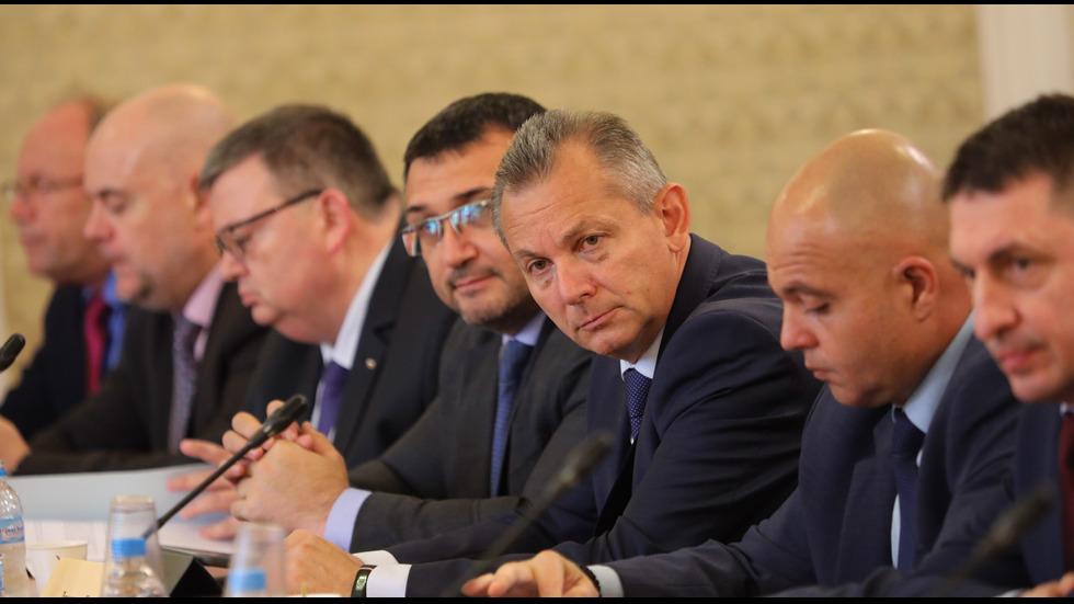 Заседание на парламентарната комисия за борба с контрабандата