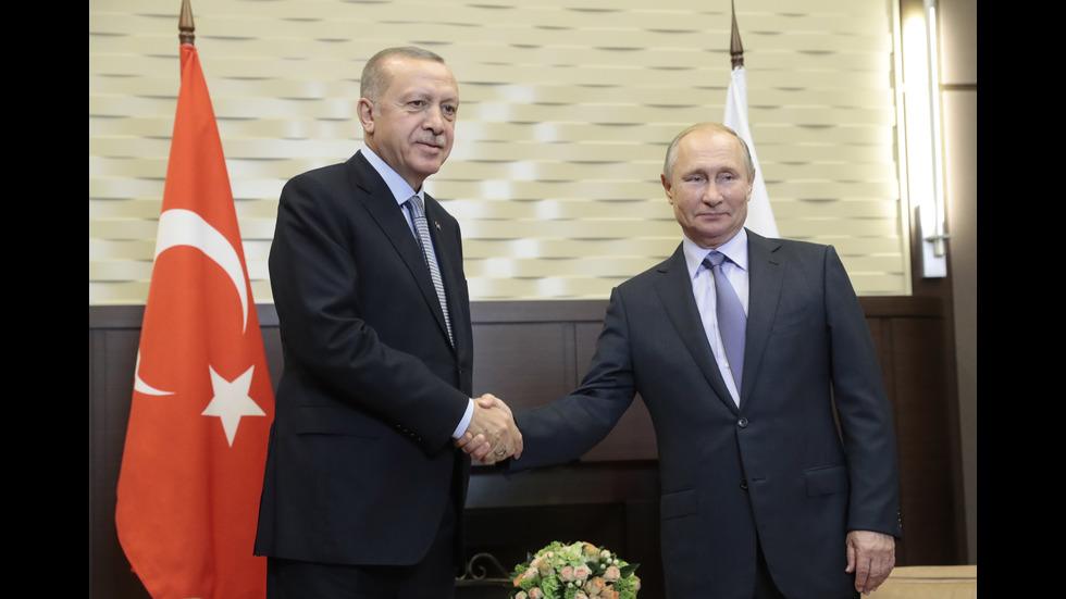 Приключиха преговорите между Путин и Ердоган