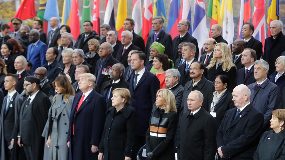 Световните лидери в Париж: Отбелязаха 100 години от края на Първата световна война