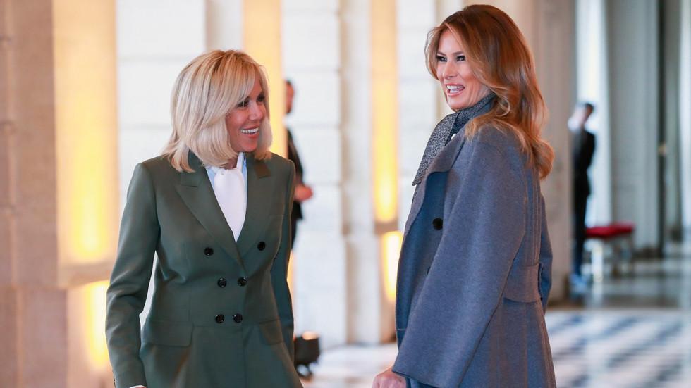 Половинките на световните лидери - на обяд в Версайския дворец