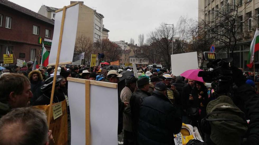 Протест на пчеларите в София