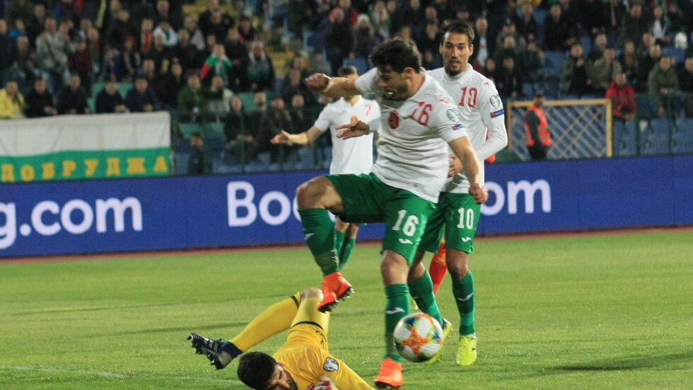ЕВРО 2020: Спорна дузпа спаси България срещу Черна гора
